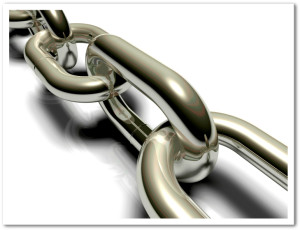 Chain Links Representing Strengthening Supply Chain Partnerships